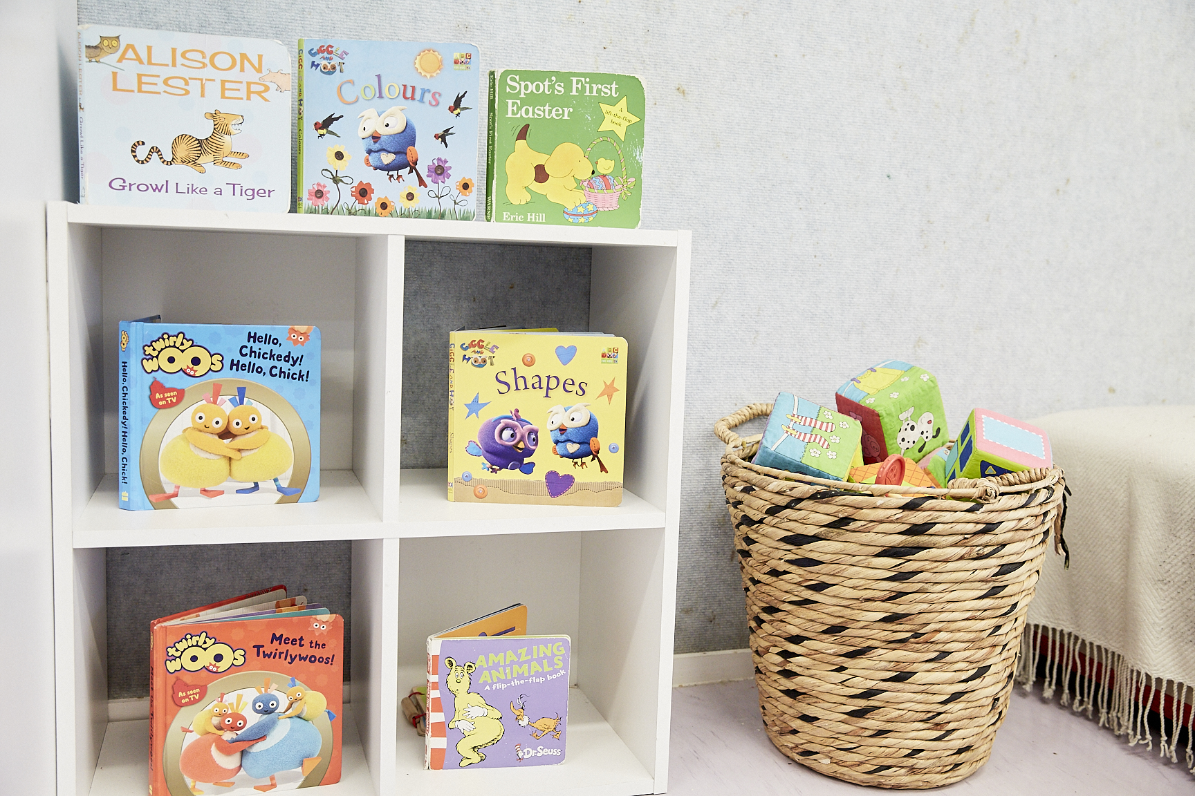 Preschool childrens books in child care classroom at The Learning Tree Yarralumla