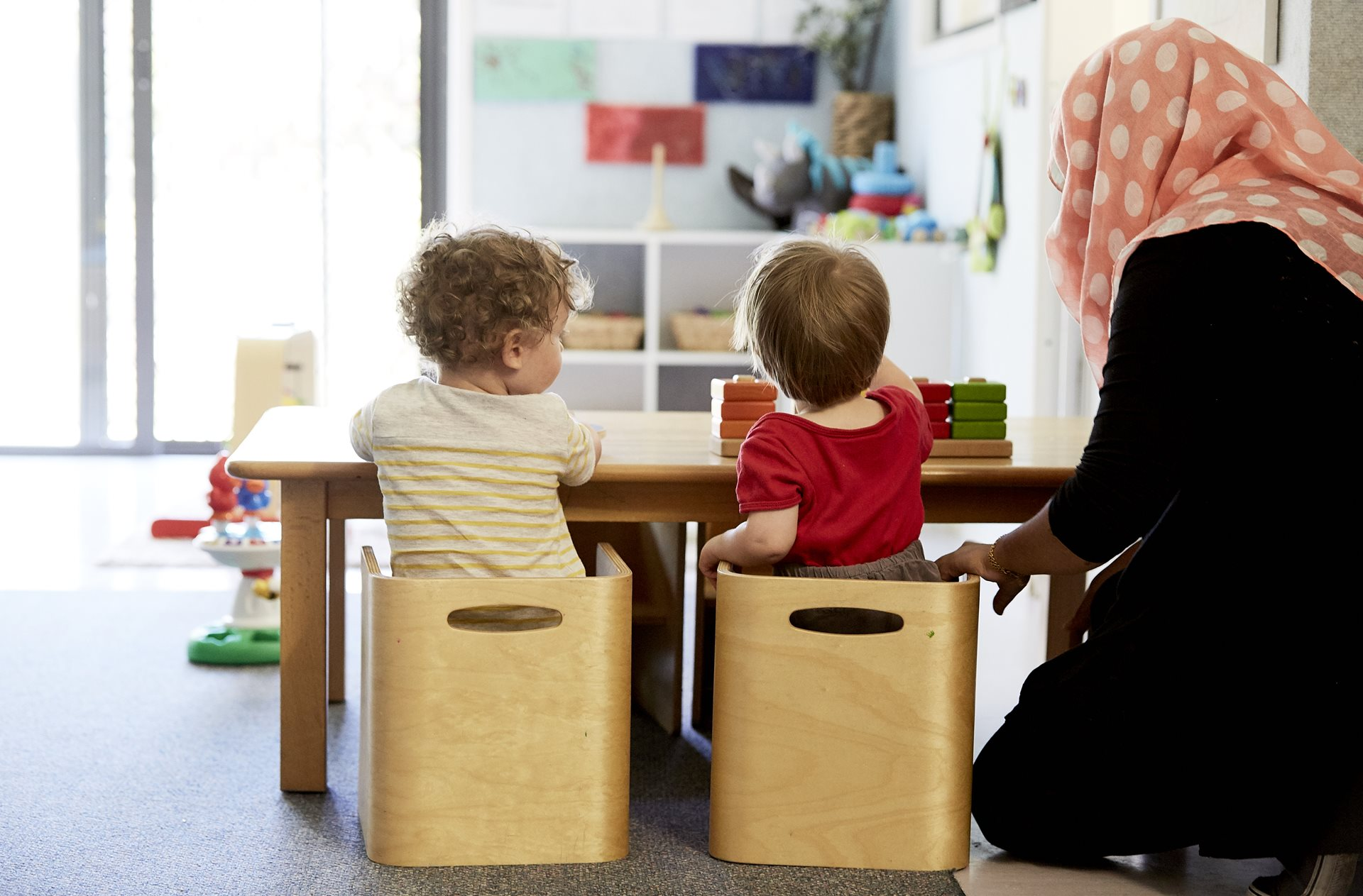 Young children in child care classroom at The Learning Tree Yarralumla